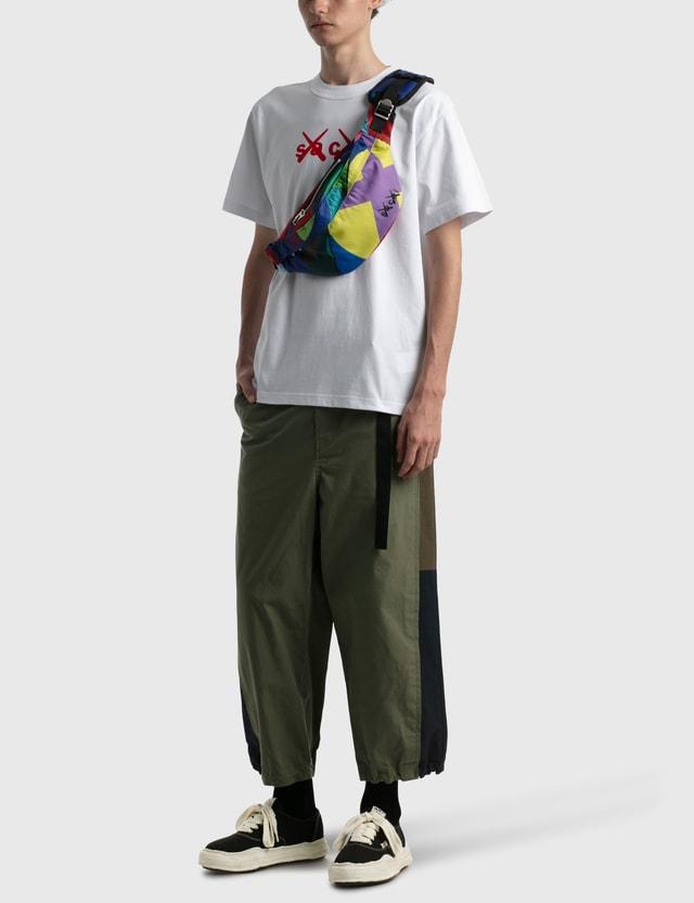 Sacai KAWS Flock Print T-shirt White X Red Men