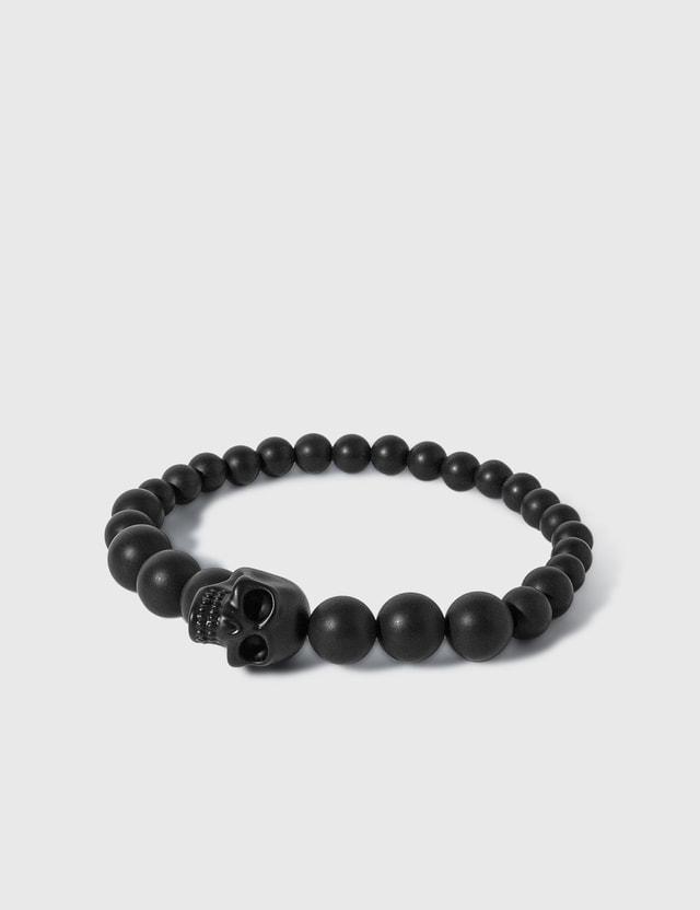 Alexander McQueen Skull Multi Beaded Bracelet Black Men