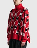 Random Identities Jacquard Knit Red Unisex