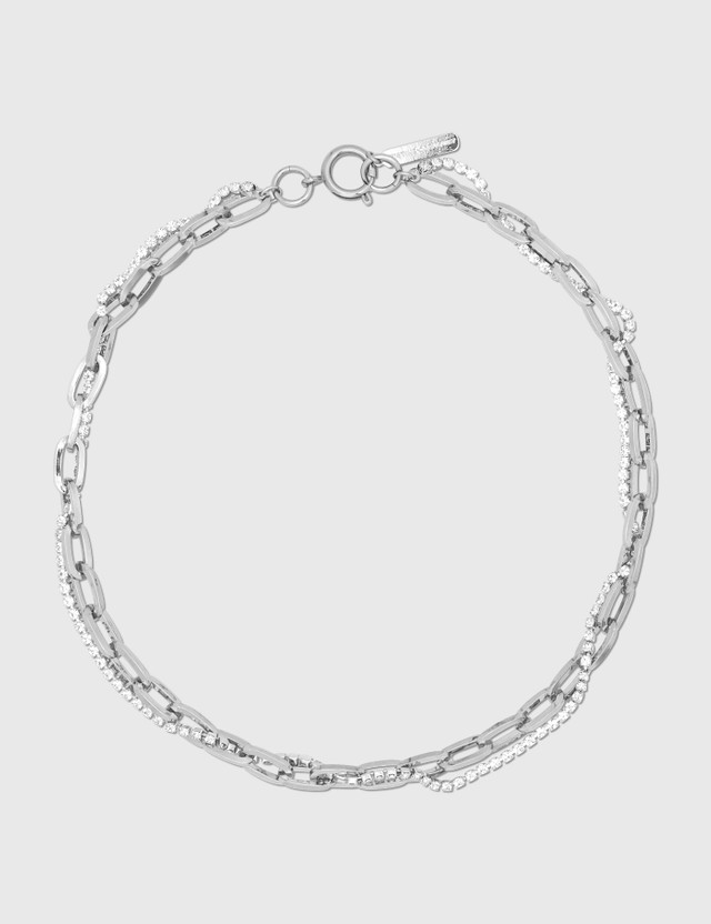 Justine Clenquet Kirsten Palladium Necklace Silver Women