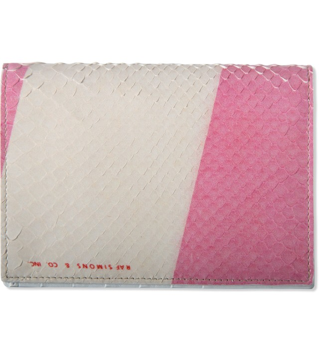 Raf Simons Pink/White Super Nylon Print Long Wallet