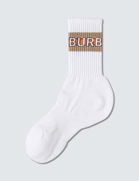 버버리 로고 양말 Burberry Logo Intarsia Cotton Blend Socks