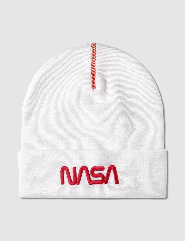 Heron Preston NASA Beanie White Men