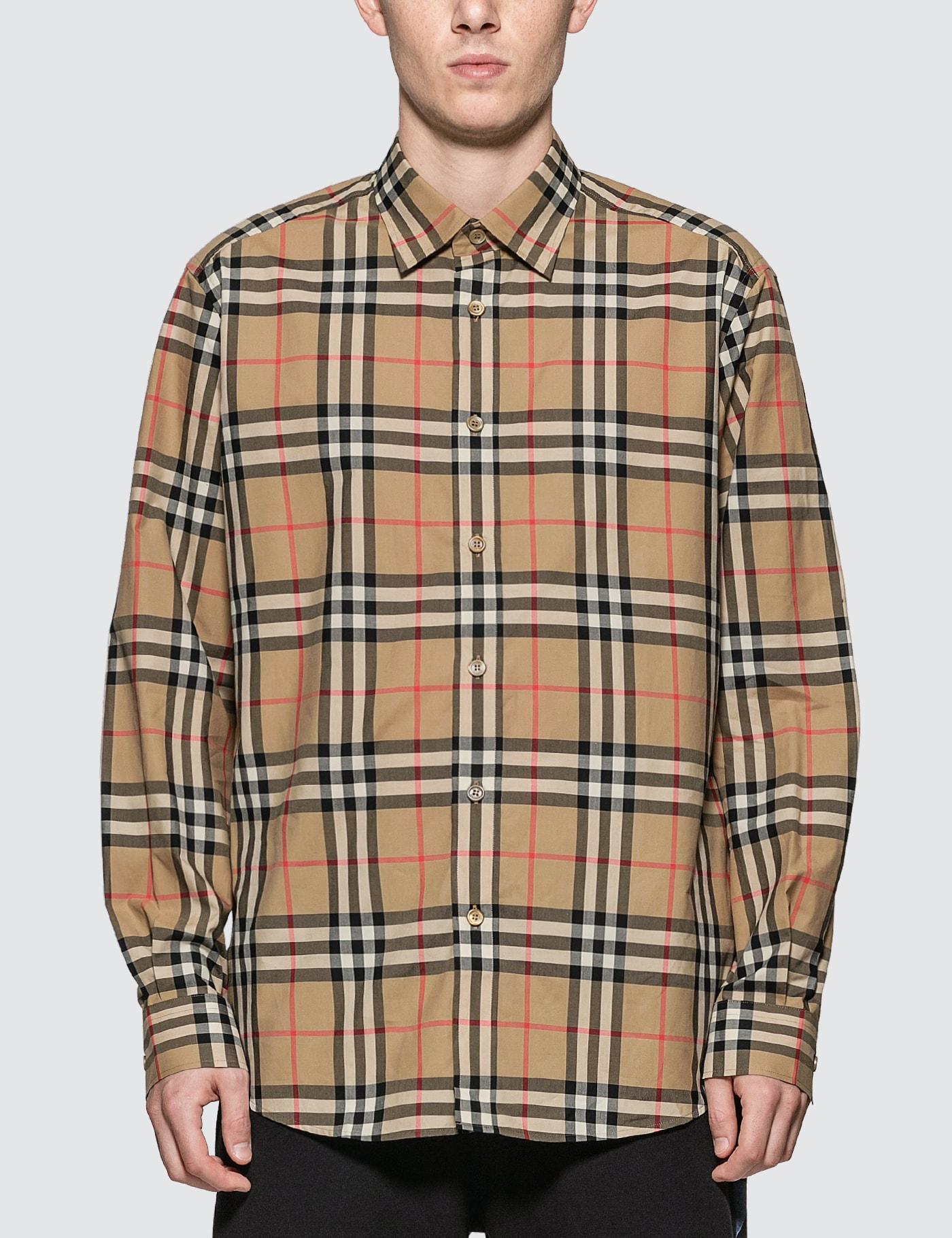 Check Cotton Poplin Shirt