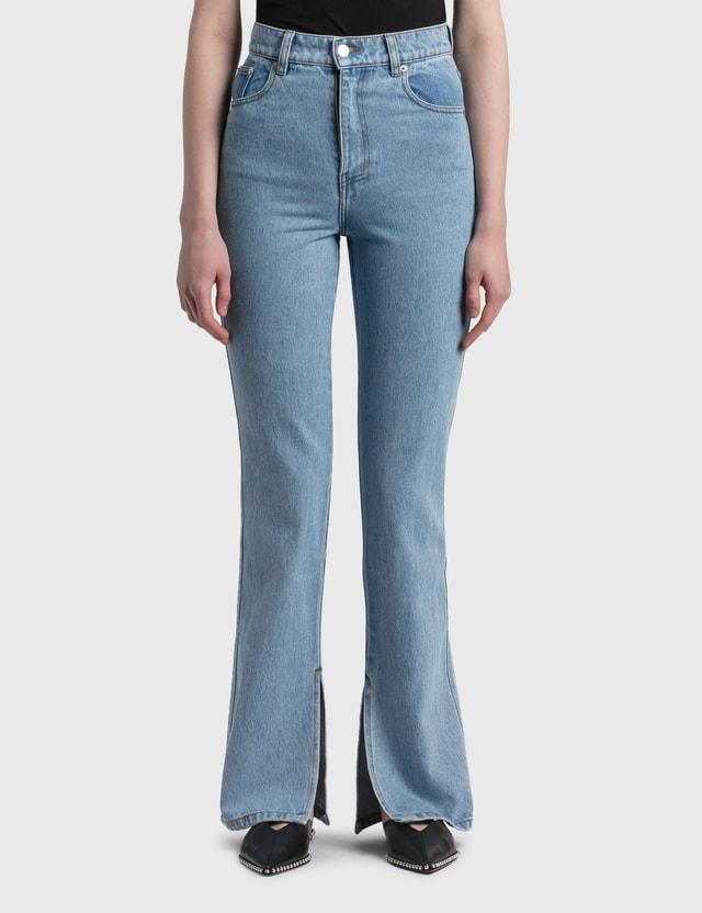 Nanushka Louis Straight Leg Jeans Light Wash Women