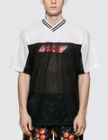 MSGM Inverted Logo Football S/S T-shirts Black Men