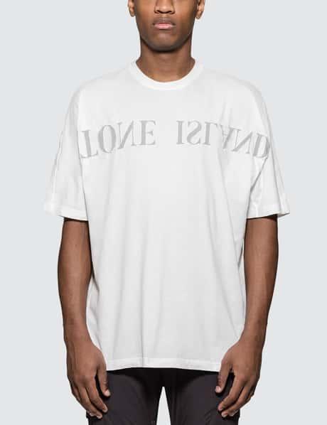 스톤 아일랜드 19 S/S 텍스트로고 반팔 티셔츠 화이트 Stone Island S/S T-Shirt