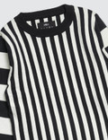 Meme Rei Knit Sweater Black/white Stripes Kids