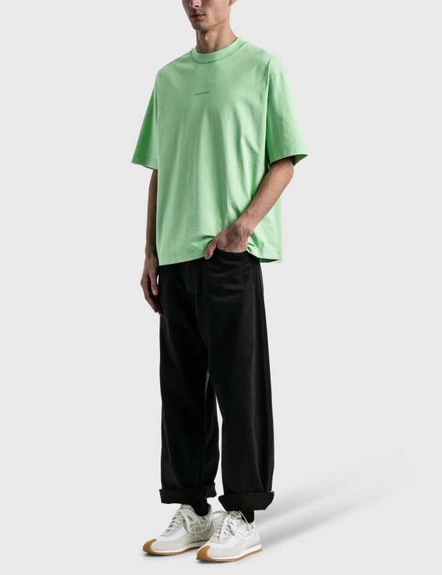 Acne Studios Extorr Stamp T-shirt Green Men