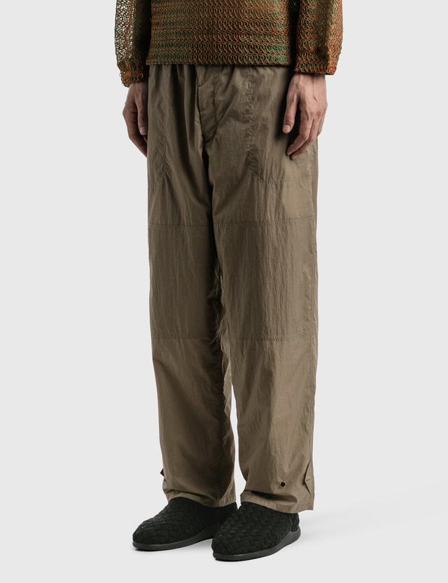 Sasquatchfabrix. Nylon Work Pants Beige Men