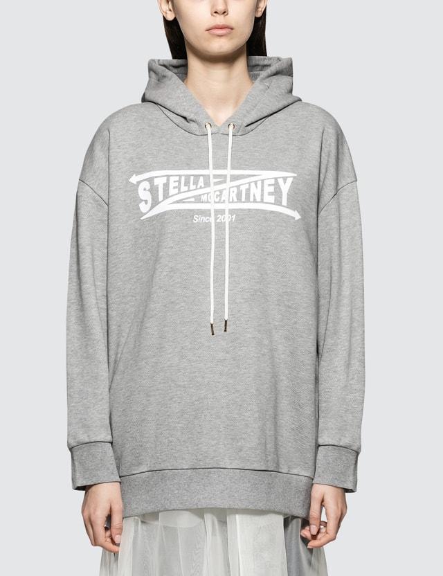 Stella McCartney Hooded Jumper Grey Melange Women