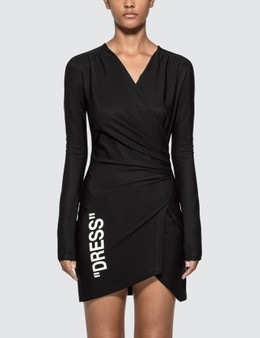 Off-White Side Opening Mini Dress
