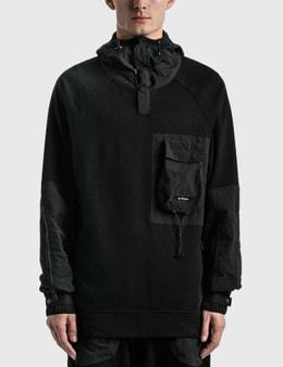 Tobias Birk Nielsen Mixed Fabric Box Chest Pocket Hoodie
