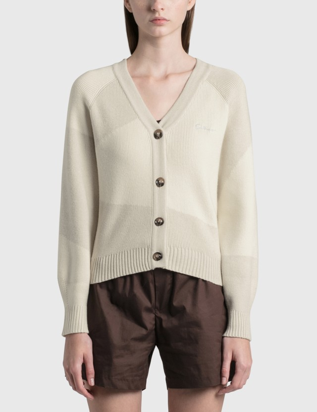 Daniëlle Cathari Deconstructed Cardigan Two-Toned Cream Women