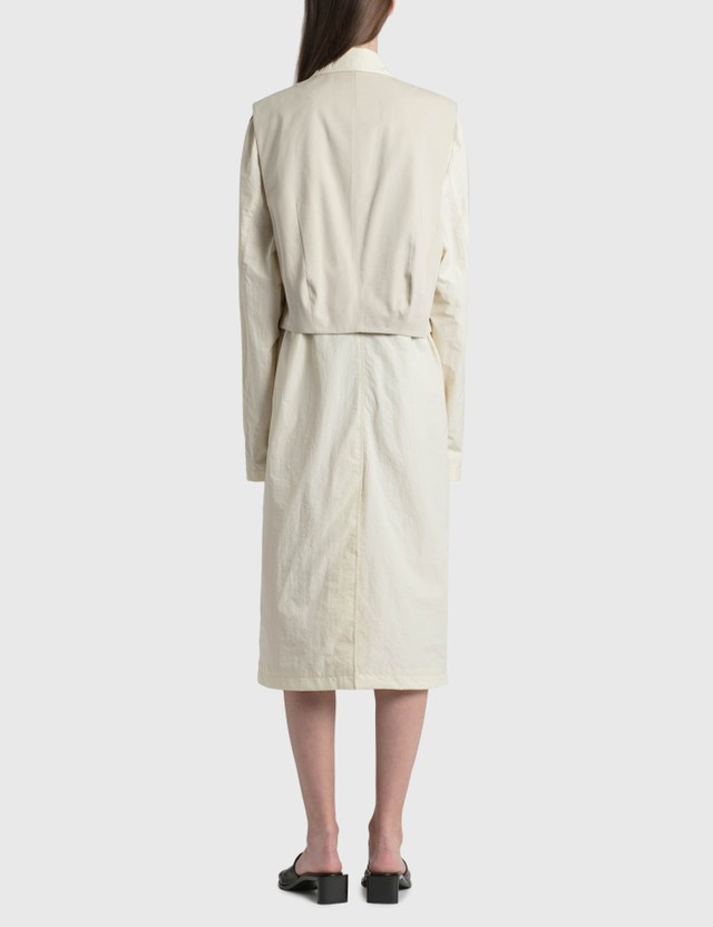 Ader Error Layered Trench Coat Ivory (ivory) Women