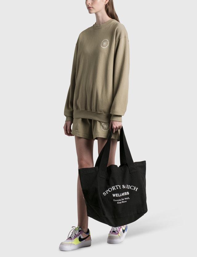 Sporty & Rich Wellness Studio Tote Bag Noir/white Women