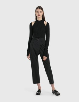 Helmut Lang Cropped Wrap Pants