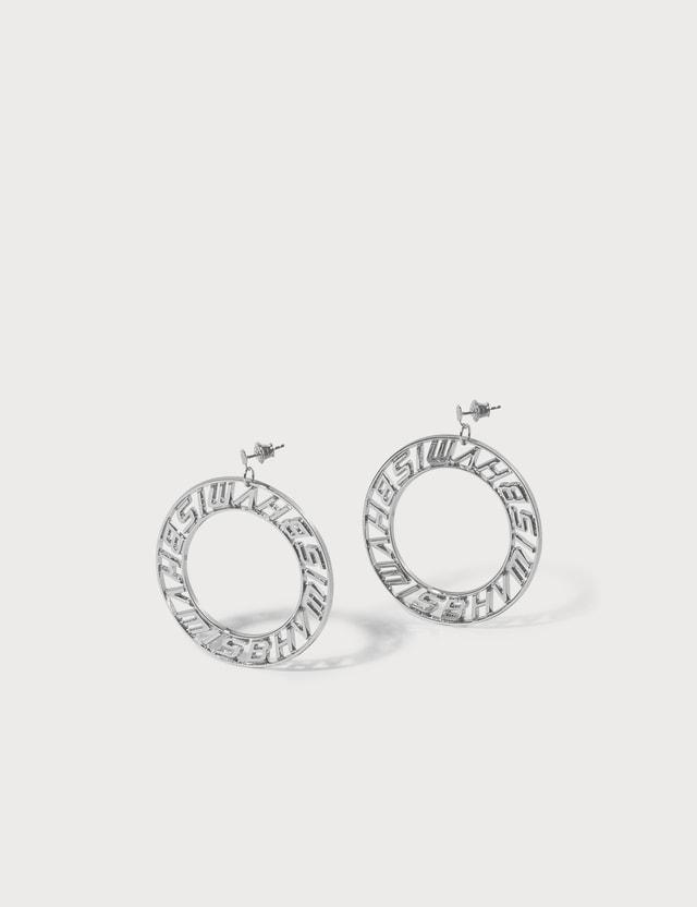 Misbhv Classic Logo Circle Earrings
