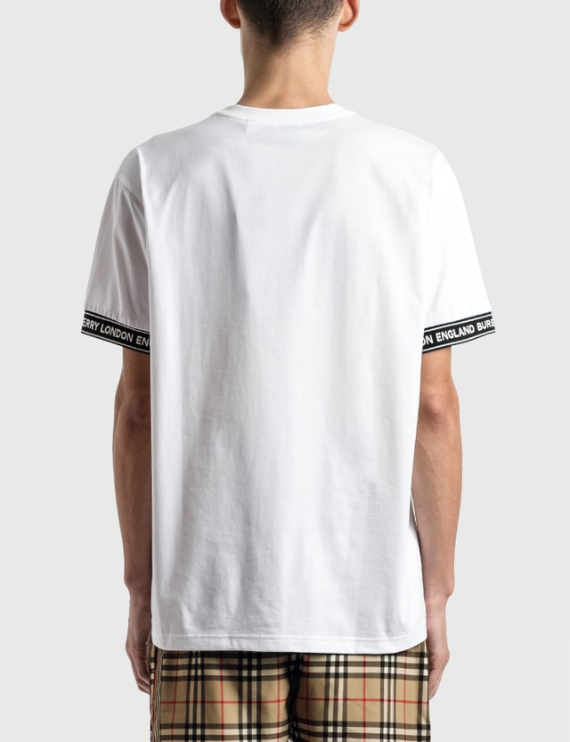 Burberry Logo Tape Cotton Oversized T-Shirt White Men