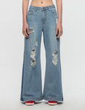 SJYP Destroyed Wide Jeans Picture
