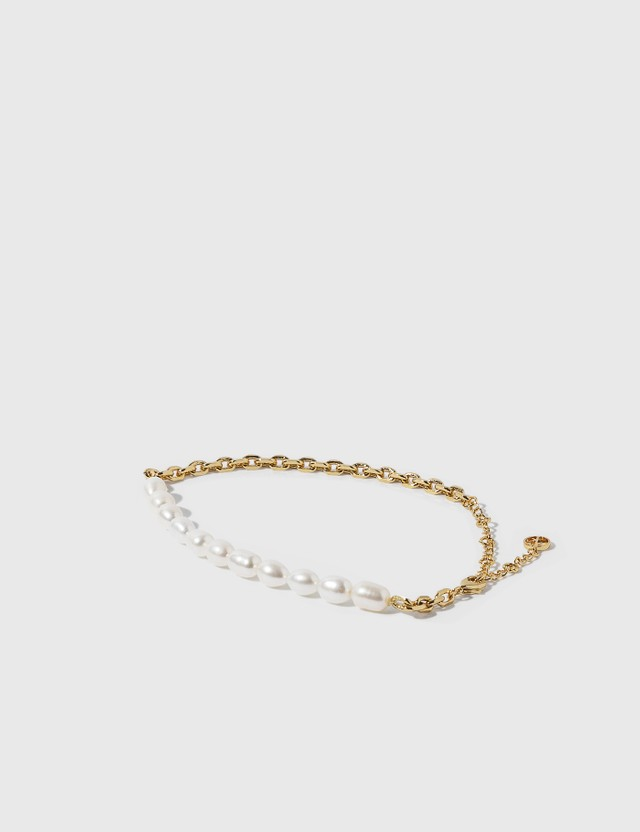 Anissa Kermiche Duel Anklet Brass/yellow/gold Plate Women