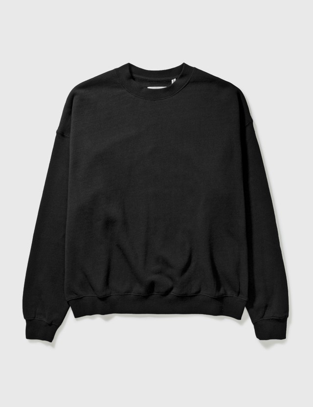 Fear of God Essentials Fog Essential Crewneck Sweatshirt Black Archives