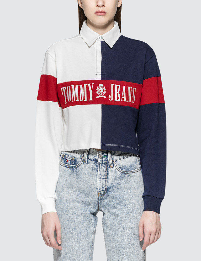 201ccbf5d8743 Tommy Jeans - 90S Cropped Rugby Sweatshirt