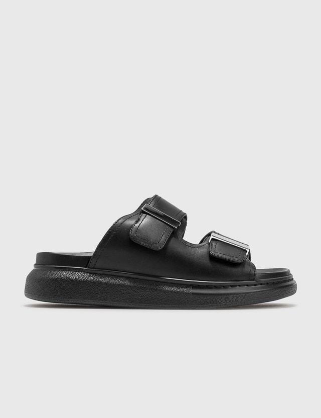 Alexander McQueen Hybrid Sandals Black/silver Women