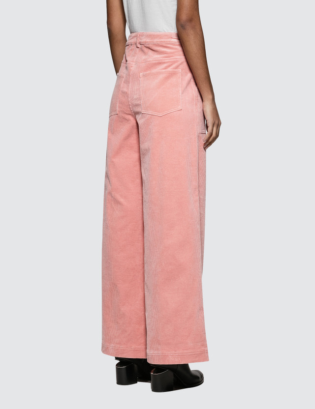 Ganni Ridgewood Pants Pink Women