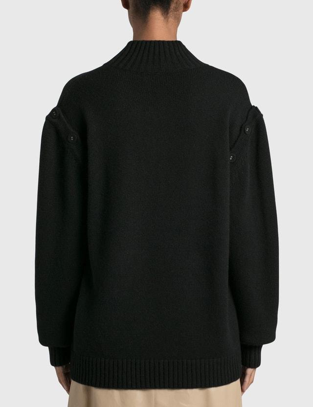 Christopher Esber Oversized Deconstruct Sweater Black Women