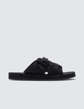 Prada Buckle-Strap Velcro Technical-Mesh Slides Picture