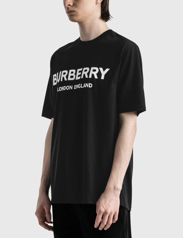 Burberry Logo Print Cotton T-shirt Black Men