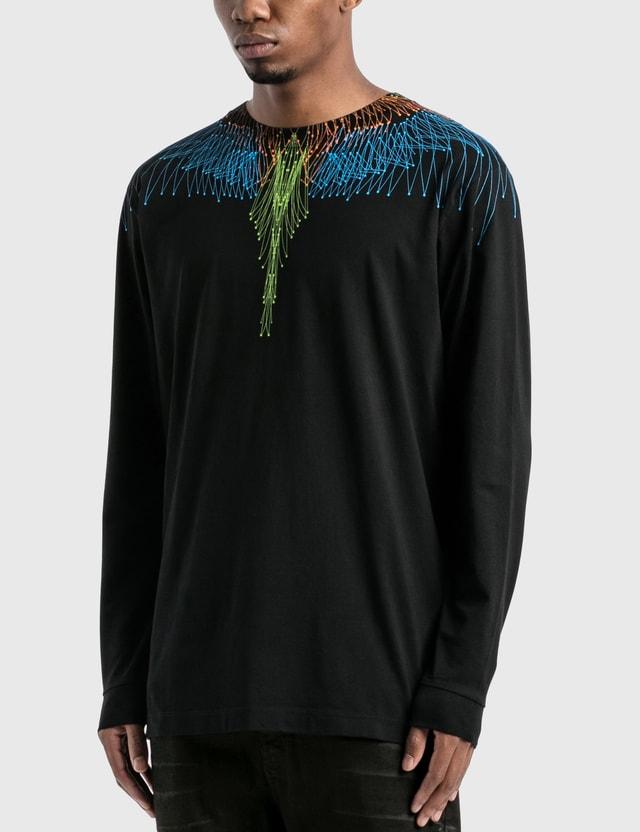 Marcelo Burlon Wings Basic Long Sleeve T-Shirt Black Men