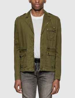 Saint Laurent Saharienne Jacket In Cotton Gabardine