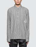 Denim By Vanquish & Fragment Icon Stripe Coaches L/S Shirt Picture