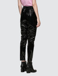 MSGM Stretch Patent Leather Pants Black Women