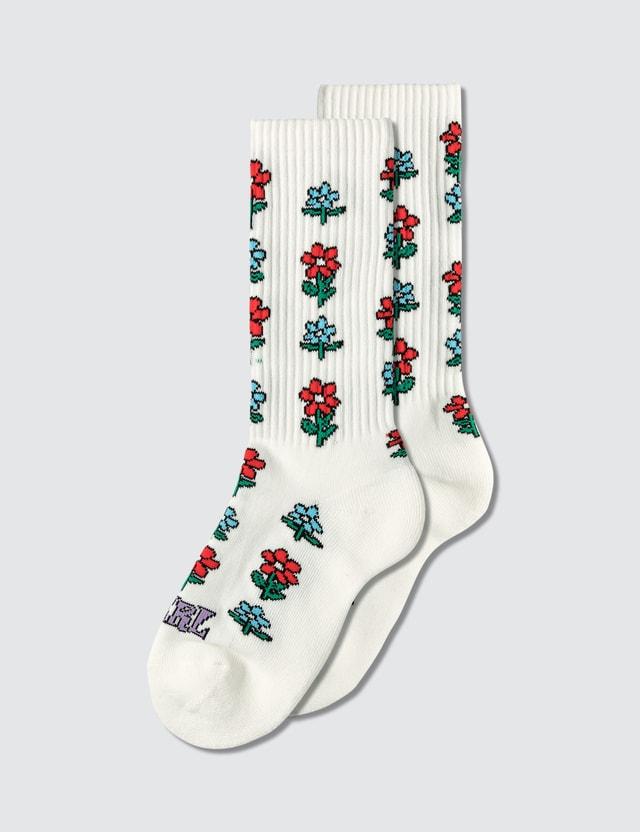 X-Girl Flower Rib Socks