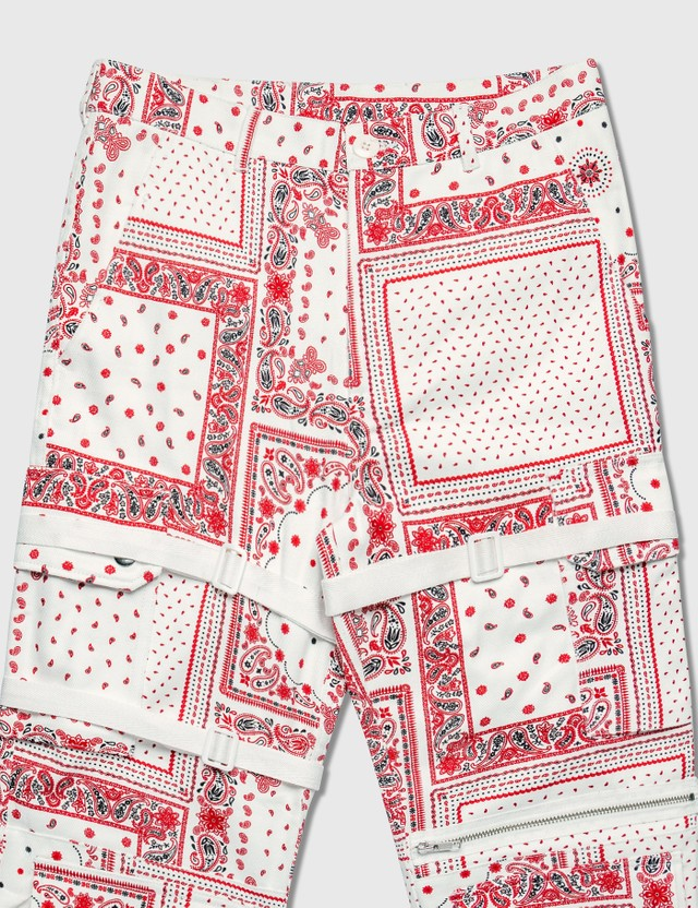 Rogic Paisley Cargo Pants Wht / Red Men
