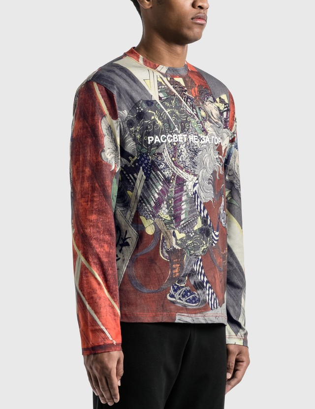 Rassvet Paccbet Artwork Printed Long Sleeve T-Shirt Allover Black Men