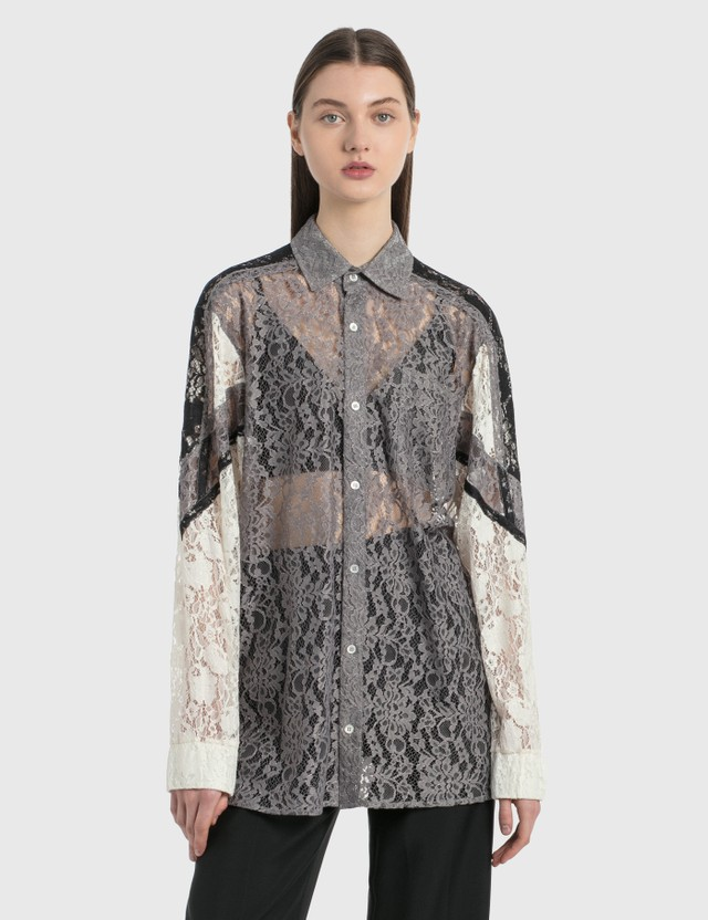 KOCHÉ Lace Shirt Grey Women