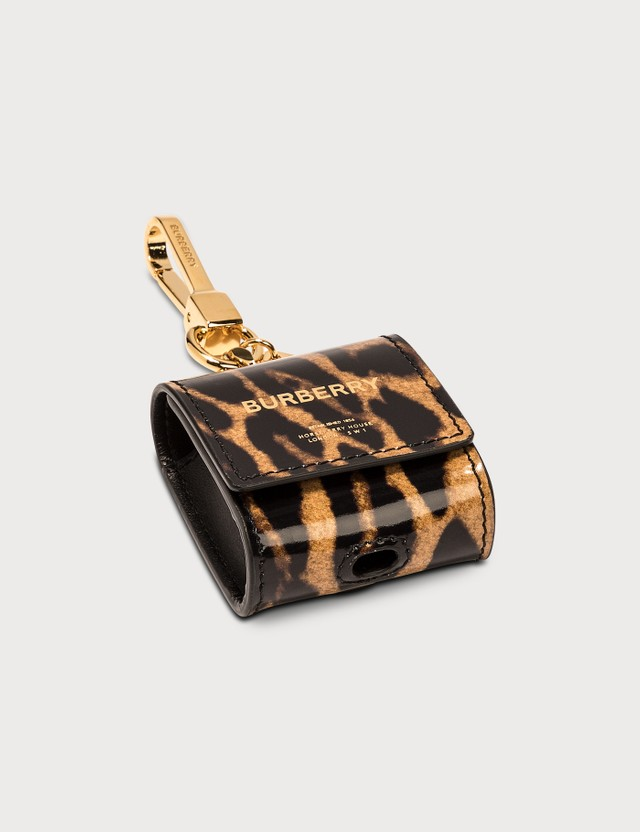 Burberry Leopard Print Leather AirPods Case