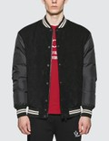 Moncler Down Bomber Jacket with Nylon Sleeves Picture
