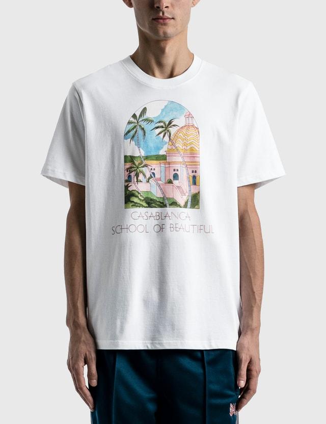 Casablanca School Of Beautiful Printed T-shirt White Men