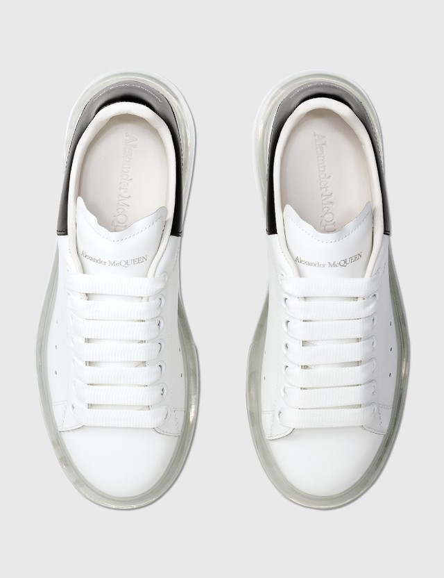 Alexander McQueen Oversized Sneaker With Transparent Sole White/clear/black Women