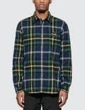 F.C. Real Bristol Big Logo Flannel B.D Shirt Picutre