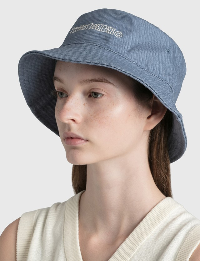 Stussy Canvas Bucket Hat Blue Women
