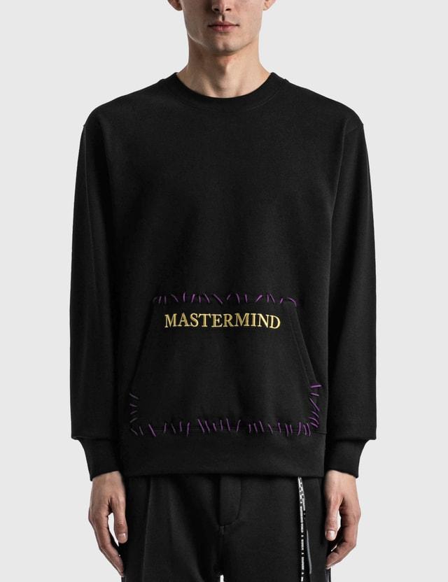 Mastermind World Hand-stitched Crewneck Black Men