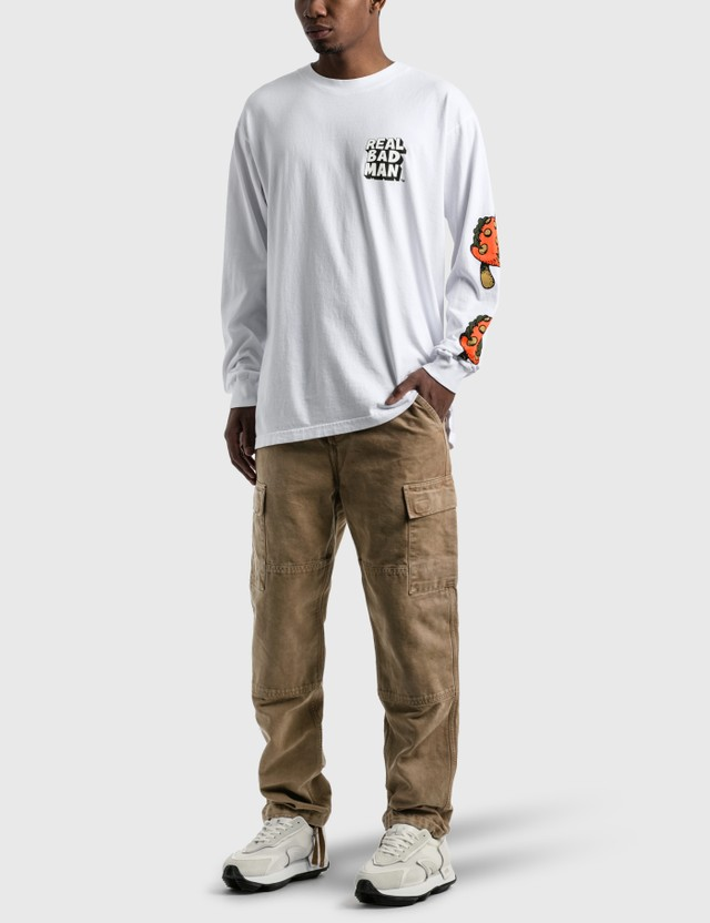 Real Bad Man So Far Out Long Sleeve T-Shirt White Men