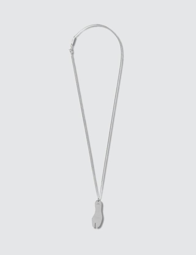 Maison Margiela Tabi Necklace Silver Men