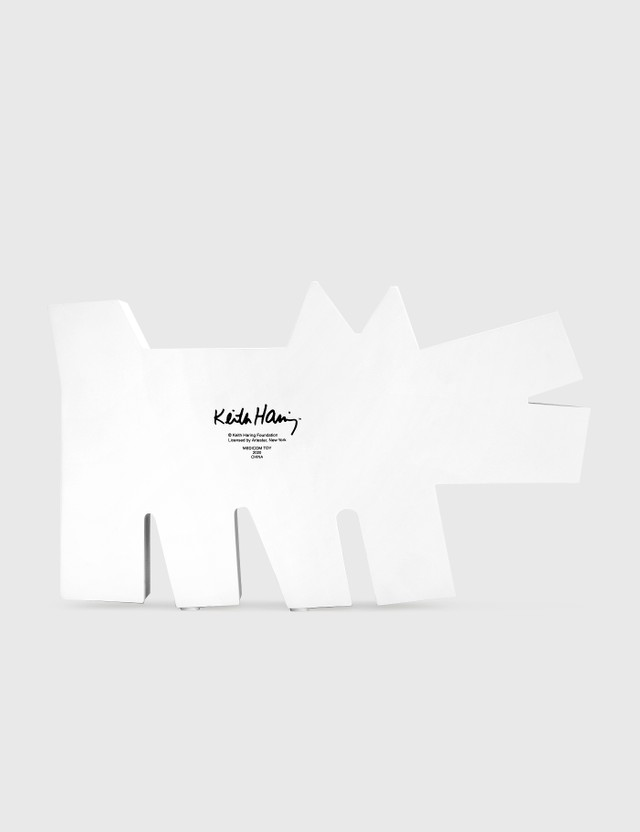 Medicom Toy Keith Haring Barking Dog Statue White Version